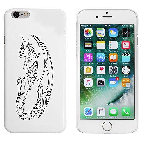 Weiß 'Drachen Kontur' Hülle für iPhone 6 u. 6s (MC00005346)