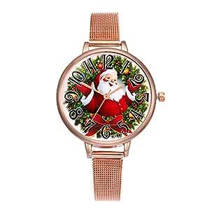 COOKDATE-Navidad Relojes de Pulsera Navidad Mujer Reloj de ...