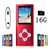 G.G.Martinsen dullred Stylish MP3/MP4 Player with a 16GB Micro SD Card, Support Photo Viewer, Mini USB Port 1.8 LCD, Digital Music Player, Media Player, MP3 Player, MP4 Player