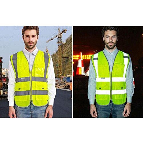 GOGO SECURITY 8 Pockets Hi Vis Safety Vest-Blue-L by GOGO (Image #2)