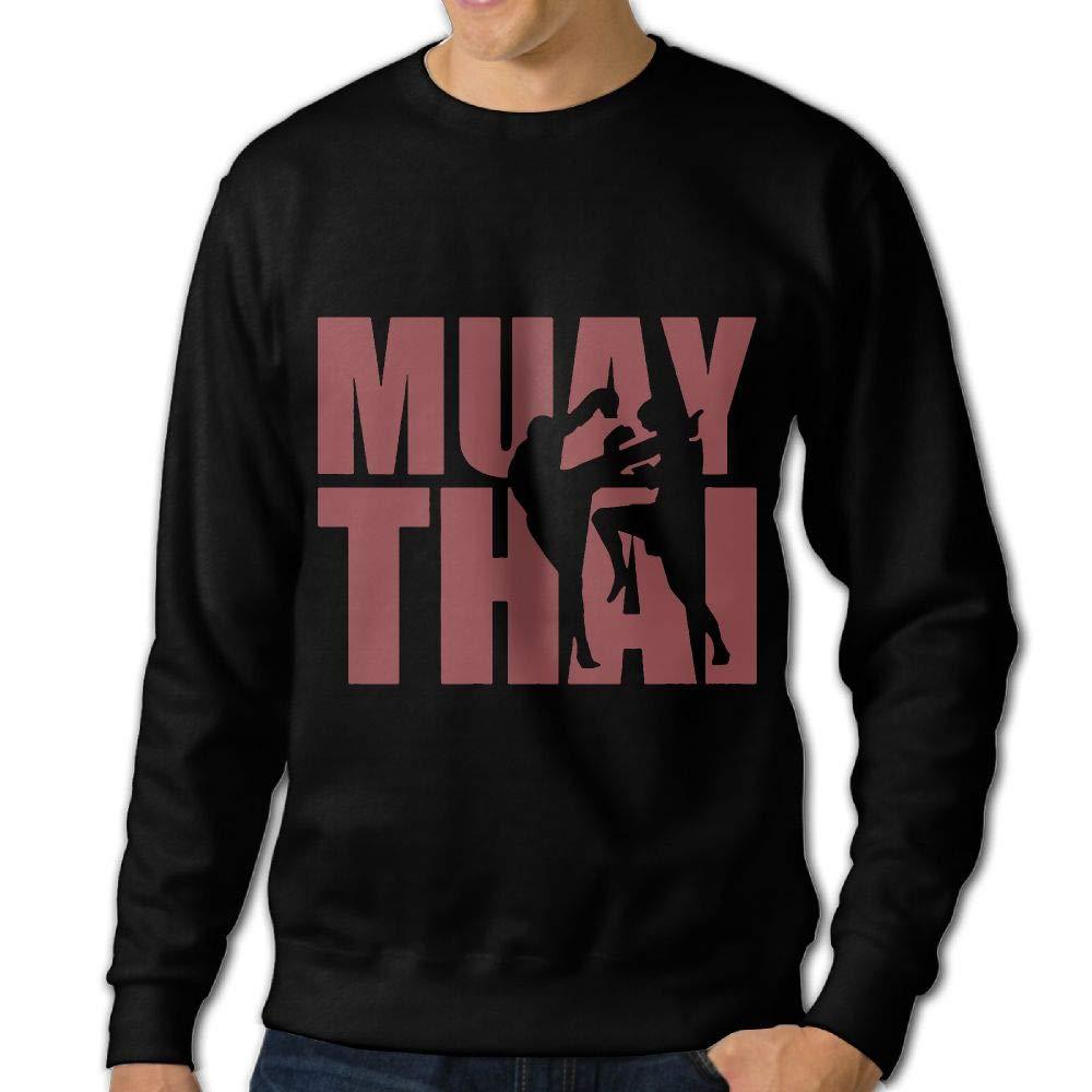 LLiYing-D Muay Thai Adult Mens Sports Long Sleeve Hoody T-Shirts