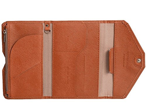 Foryee Mulit-purpose Travel Passport Wallet - Brown