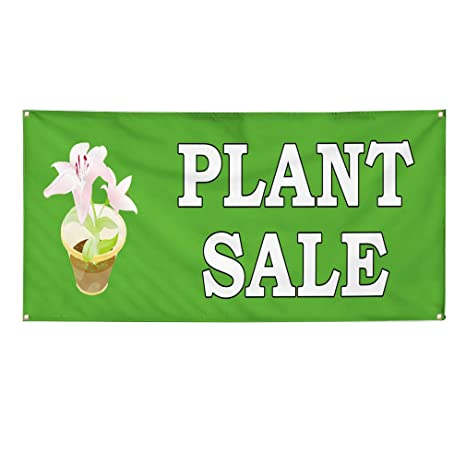Vinyl Banner Sign Plant Sale Green Business Plant Sale Marketing  Advertising Green - 24inx36in (Multiple Sizes Available), 4 Grommets, One  Banner