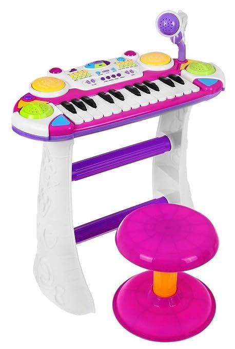 BSD Piano Electrónico Teclado Musical para Niños - 2 Octavas - Rosa