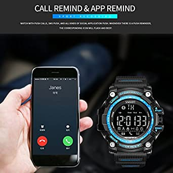 Digital Bluetooth reloj inteligente hombres impermeable LED Buceo ...