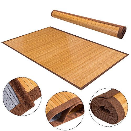 "Giantex 60"" x 96"" Bamboo Area Rug Floor Carpet Natural B"