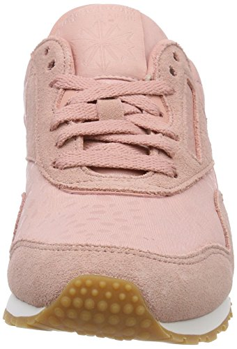Lux Basses white Classic Text Nylon Pink Slim chalk gum Reebok Sneakers Femme Rose axUFqBxw