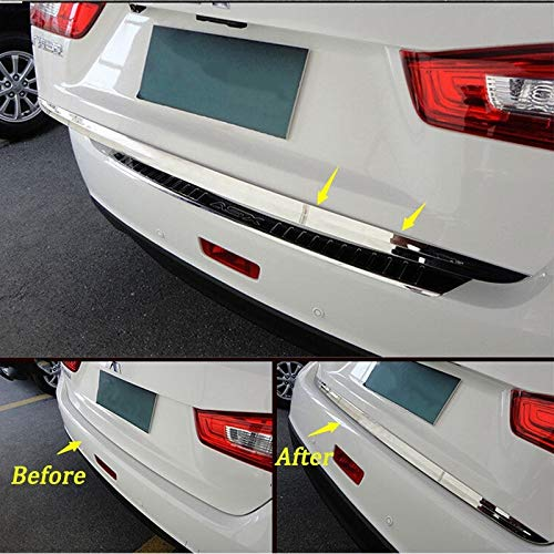 Sweet.love4you Car Stainless Rear Boot Door Tailgate Edge Trim Trunk Chrome Strip Decal Fit for 2011~2017 Mitsubishi ASX Car Styling ()
