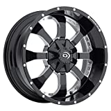 Vision Locker 17 Black Milled Wheel / Rim 6x135 & 6x5.5 with a -12mm Offset and a 106.2 Hub Bore. Partnumber 420-7993MS-12