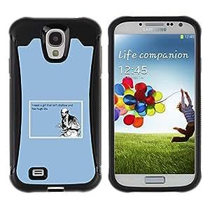 "Pulsar iFace Series Tpu silicona Carcasa Funda Case para Samsung Galaxy S4 IV I9500 , Shallow Cita Chica La vida divertida Tetas Grandes Hombre Amor"""