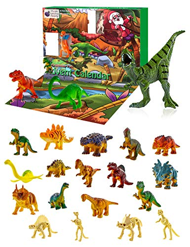 Purple Ladybug Novelty Dinosaur Toys 2019 Advent Calendar for Kids, with 24 Different Dinosaur Figurines Including a Large T-Rex! Great Christmas Countdown Advent Calendars for Boys or Girls! (Calendar Christmas Advent Kids)