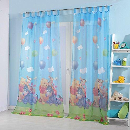 Kinderzimmer Gardinen Vorhang Set Motiv: Winnie the Pooh