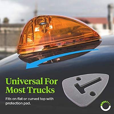 Amber Cab Marker Lights Kit [DOT FMVSS 108] [SAE P2] [Universal Fit] [Reflector Lens] [94-98 Dodge Ram Direct Replacement] Teardrop Cab Lights for Truck Van Ford F250 F350: Automotive