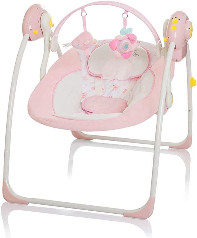 LITTLE WORLD Xích đu em bé Dreamday Ghế đôn màu hồng Em bé xích đu