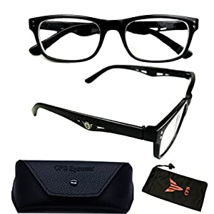 (#5123 Blk) Nearsighted Myopia Lens Plastic Frame Optical Eyeglass Glasses For Men & Women (Strength: -100)