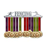 Fencing Medal Hanger Display   Sports Medal Hangers   Stainless Steel Medal Display   by VictoryHangers - The Best Gift for Champions !