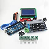 WillBest 3D Printer kit 1pcs Mega 2560 R3 + 1pcs RAMPS 1.5 Controller+ 5pcs A4988 Stepper Green Driver Module + 1pcs LCD 12864 Controller