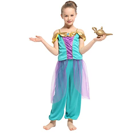 LOLANTA Disfraz de jazmín de Aladdin Disfraz de Princesa jazmín ...