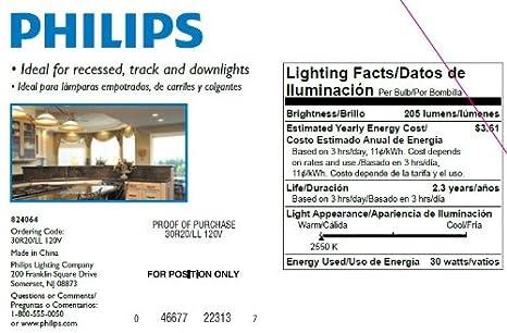 Philips 223131 30-Watt R20 DuraMax Indoor Flood Light Bulb, 3-Pack