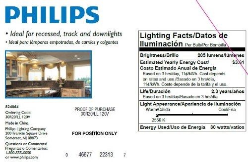 Philips 223131 30-Watt R20 DuraMax Indoor Flood Light Bulb, 3-Pack