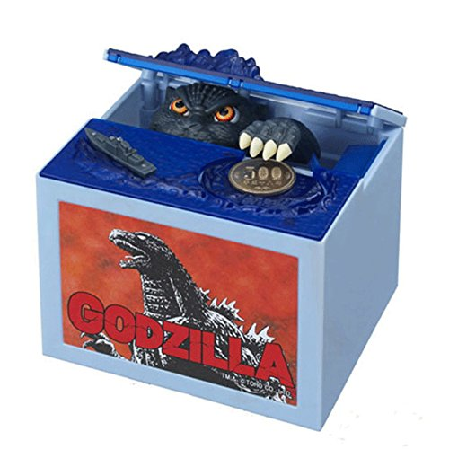 Fashionyourlife Creative Movie Godzilla Piggy Bank Stealing Coin Musical Moving Monster Electronic Money Box Best Gifts For Boys