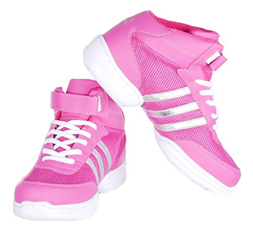 Nene's Collection Women's Dance Fitness Shoes High Top Sneakers (9, Pink)