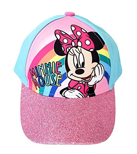 Disney Minnie Mouse Girls Baseball Cap - Rainbow Pastel
