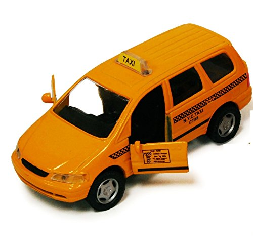 New York City Nyc Yellow Taxi Cab Iii 4 25  Suv Crossover Van 1 43 Scale Diecast 9871D