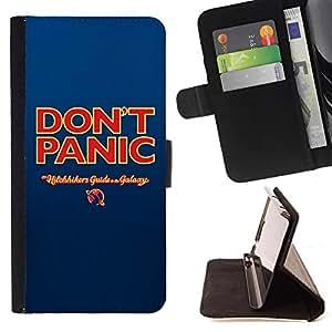 Kingstore / - Do not Panic Sign On Azul - Apple Iphone 5C