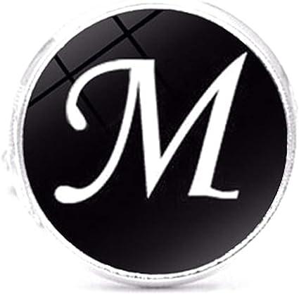 Letra M Botón de acero inoxidable Acero Classic Gemelos Camisa iniciales personalizadas Alfabeto A-Z Juego de regalo 1 par: Amazon.es: Belleza