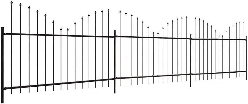 Zora Walter Valla Jardín punta de lanza (0,5 – 0,75) X6 M Acero Negro Valla Jardín Barriere exterior Valla metálica staccionate acero kit Valla exterior: Amazon.es: Bricolaje y herramientas