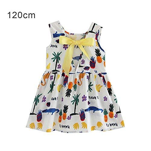 ajzdnzvr Girls Sleeveless Cotton Sundresses Backless Crocheted Dress Girl Bow Knot Hairband Size 120cm (9,White Crocodile Shape) (Girls Crocheted Dress)