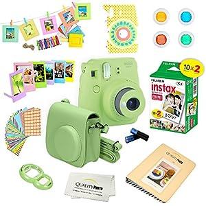 Fujifilm Instax Mini 9 Camera + 15 PC Accessory Kit