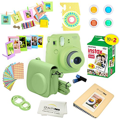 Fujifilm Instax Mini 9 Instant Camera – 10 Pack Accessory Camera Bundle – 20