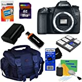 Canon EOS 70D 20.2 MP Digital SLR Camera with Dual Pixel CMOS AF, Body (Import) + 8pc Bundle 16GB Accessory Kit w/ HeroFiber® Ultra Gentle Cleaning Cloth
