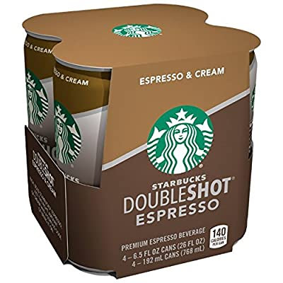 Starbucks Double Shot, Espresso, Coffee Drink 6.5 Fl Oz (Pack of 4) from Pepsico