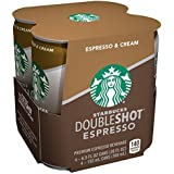 Starbucks Double Shot, Espresso, Coffee Drink 6.5 Fl Oz (Pack of 4)