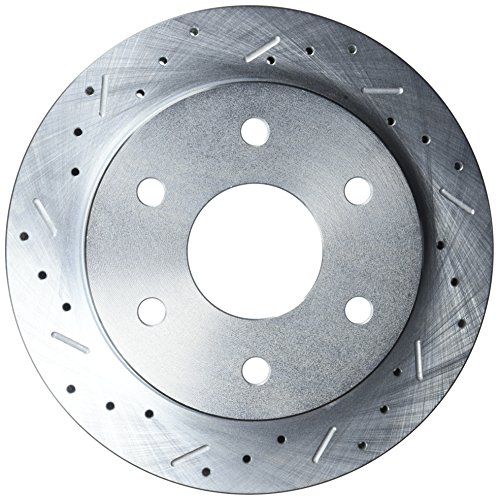 SSBC 23045AA3L Drilled Slotted Plated Front Driver Side Rotor for 1988-99 K1500 1.25