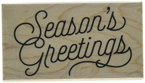 Hero Arts Season's Greetings Script Rubber Stamp