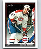1991-92 O-Pee-Chee Hockey #157 Shayne Corson Montreal Canadiens Official NHL Trading Card Produced By Topps