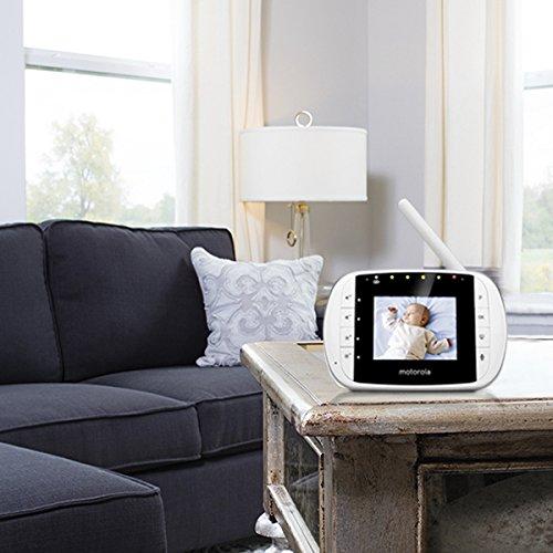 /éco mode Babyphone vid/éo avec /écran 2.8 Motorola Baby MBP 33S vision nocturne et capteur de la temp/érature ambiante couleur blanc