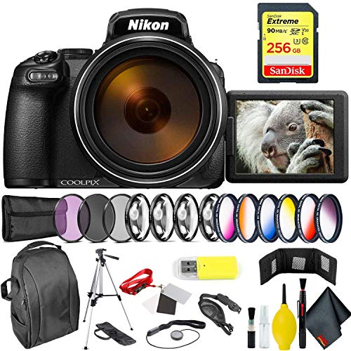 Nikon COOLPIX P1000 Digital Camera + 256GB Sandisk Extreme Memory Card Professional Kit International Model