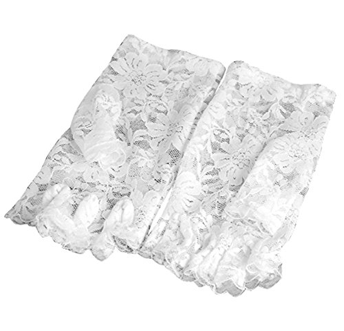 Veroda Retro Lace Short Fingerless Gloves French Maid Madonna 80'S Color White (80s Womens Fancy Dress)