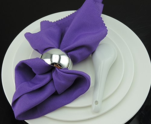 Tangpan Stainless Steel Napkin Rings For Wedding Payty Color Silver Pack of 12
