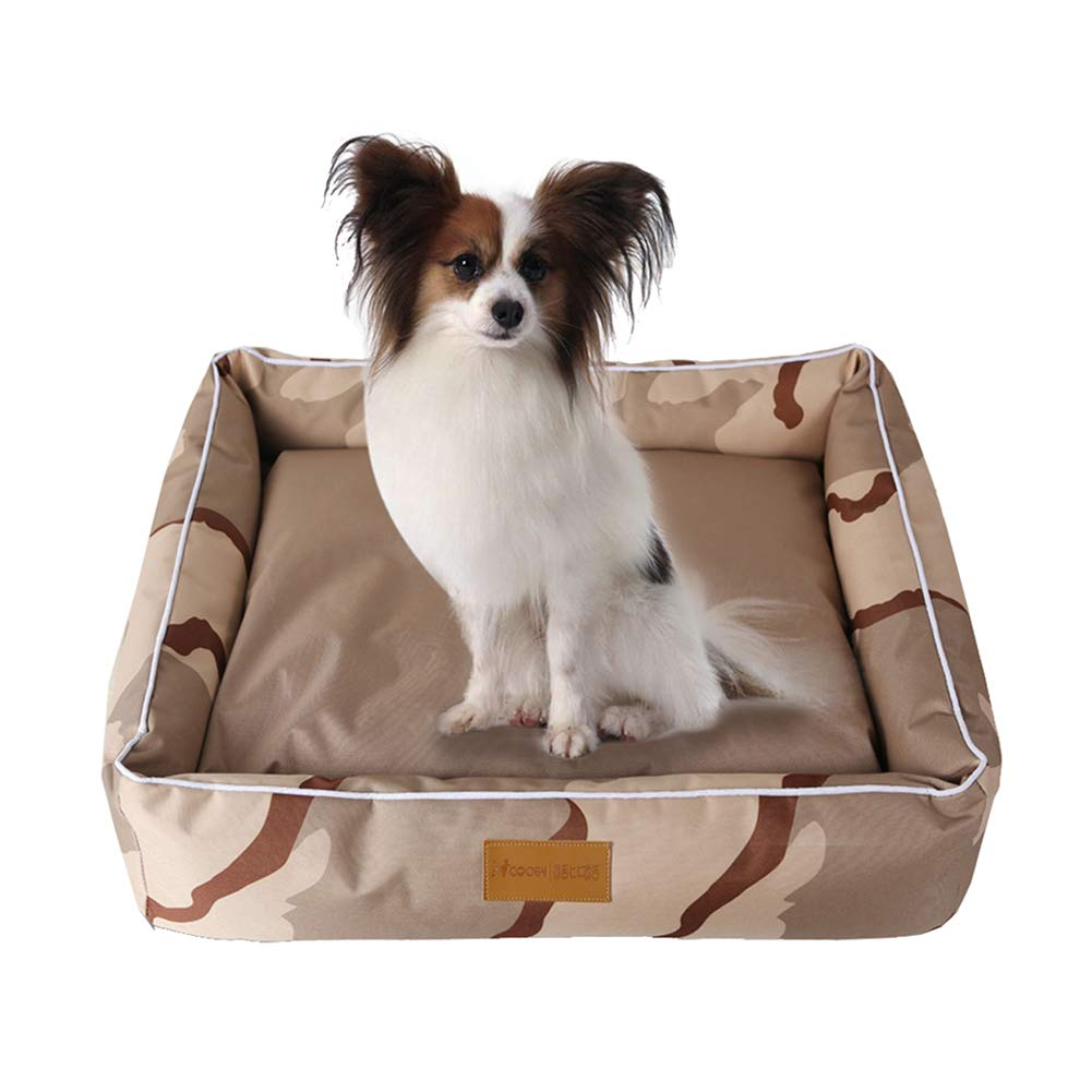 Brown 18 x14 x6 Vim Tree001 Waterproof Pet Bed Durable Cover Dog Bed Lounge Sofa for Small Medium Large Dog Brown 26 x22 x7.1