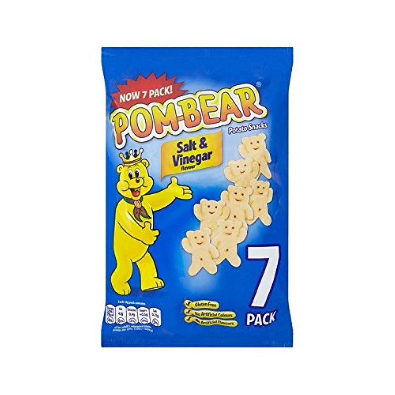 Pom Bear Salt & Vinegar 7 per pack - Pack of 2