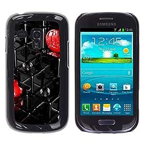 Paccase / SLIM PC / Aliminium Casa Carcasa Funda Case Cover - Abstract Grid - Samsung Galaxy S3 MINI NOT REGULAR! I8190 I8190N