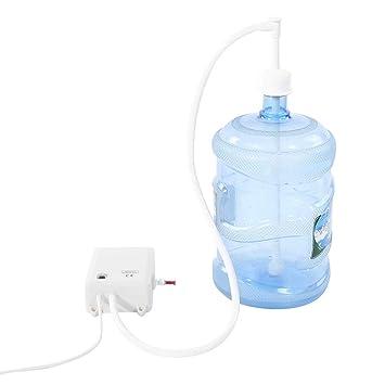 Bomba de agua con dispensador, Bomba de agua eléctrico para dispensador de agua en botella con tubo de presión de agua 40PSI para casa oficina exterior: ...