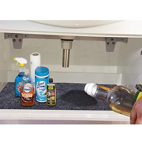 KALASONEER Under The Sink Mat (36 X 24), Premium Cabinet Mat