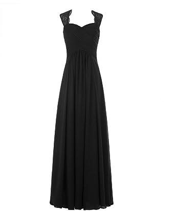 Black Chiffon Bridesmaid Dress